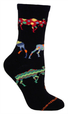 Crazy Moose Black Sock - Medium