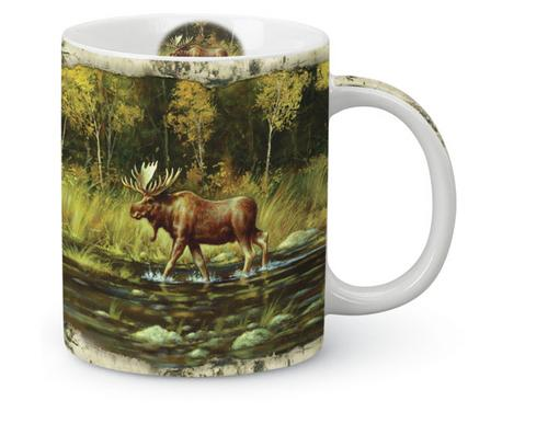 Moose on the Waters Edge 13 oz. Mug