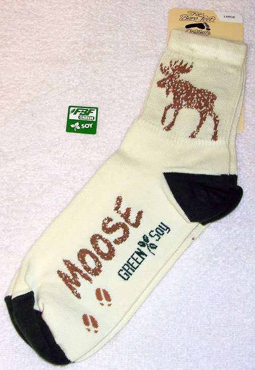Soy Moose Socks - Medium